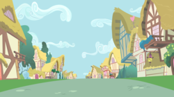Size: 8000x4495 | Tagged: safe, artist:boneswolbach, absurd resolution, background, no pony, ponyville, vector