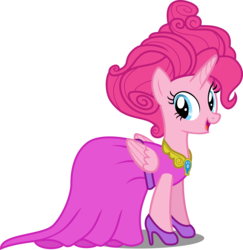 Size: 9098x9352   Tagged: safe, artist:atomicmillennial, pinkie pie, alicorn, pony, absurd resolution, alicornified, alternate hairstyle, clothes, dress, female, high heels, pinkiecorn, princess pinkie pie, race swap, solo, xk-class end-of-the-world scenario
