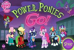 Size: 742x495 | Tagged: safe, applejack, fili-second, fluttershy, humdrum, mane-iac, masked matter-horn, mistress marevelous, pinkie pie, radiance, rainbow dash, rarity, saddle rager, spike, twilight sparkle, zapp, alicorn, pony, power ponies (episode), female, game, mane six, mare, power ponies, power ponies go, twilight sparkle (alicorn)