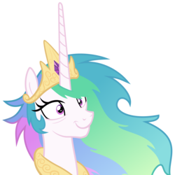 Size: 6000x6000 | Tagged: safe, artist:magister39, princess celestia, pony, absurd resolution, female, insanity, mare, messy mane, simple background, smiling, snaplestia, solo, transparent background, vector