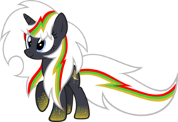 Size: 1854x1273 | Tagged: safe, artist:zacatron94, oc, oc only, oc:velvet remedy, pony, unicorn, fallout equestria, fallout, fanfic, fanfic art, female, horn, mare, rainbow power, rainbow power-ified, simple background, solo, transparent background