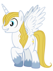 Size: 1320x1745 | Tagged: alicorn, artist:mrbrandonmac, bluecorn, dead source, pony, prince blueblood, race swap, safe, simple background, solo, transparent background, vector
