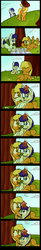Size: 1000x6048   Tagged: safe, artist:january3rd, applejack, oc, oc:constance everheart, canon x oc, comic, everjack, female, hat, male, picnic, shipping, straight