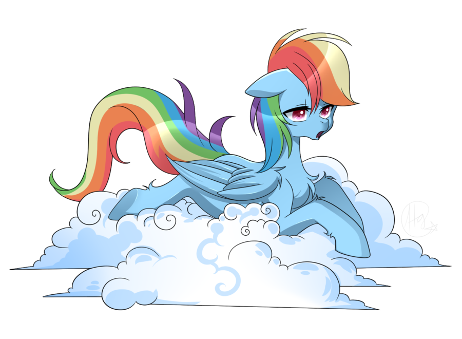 Cloud Image Transparent Background Cloud Lying Rainbow Dash Safe Solo Transparent Background