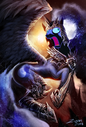 Size: 817x1200 | Tagged: safe, artist:ziom05, edit, nightmare moon, d:, derp, didney worl, faic, female, frown, majestic as fuck, meme, moon moon, nightmare dupe, nightmare moon moon, open mouth, solo, wide eyes