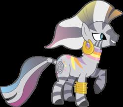 Size: 13943x12068 | Tagged: safe, artist:lillygeneva, zecora, zebra, absurd resolution, female, fruit stripe, rainbow power, rainbow power-ified, simple background, solo, transparent background, vector