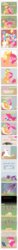 Size: 1011x14099 | Tagged: safe, artist:totallyanalicornguys, applejack, nurse redheart, pinkie pie, twilight sparkle, alicorn, earth pony, pony, afterglow, applepie, bed, bench, bipedal, blushing, clothes, comic, cowboy hat, cuddling, dress, eye contact, eyes closed, female, floppy ears, foal, glomp, happy, hat, hoof hold, hug, implied incest, josh haber, kissing, lesbian, magical lesbian spawn, mare, marriage, mouth hold, offspring, on back, open mouth, parent:applejack, parent:pinkie pie, parents:applepie, pregnant, prehensile mane, shipping, side, sitting, smiling, smudge, snuggling, spread wings, stetson, suit, tail pull, time paradox, time travel, top hat, twilight sparkle (alicorn), wedding, wedding dress, wide eyes, writing
