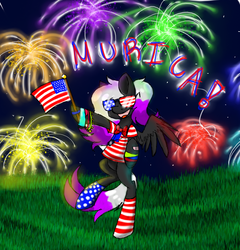 Size: 1384x1440 | Tagged: safe, artist:justalittleshadow, oc, oc only, 4th of july, american independence day, clothes, fireworks, independence day, murica, socks, solo, striped socks