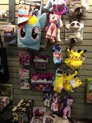 Size: 2448x3264 | Tagged: safe, applejack, derpy hooves, fluttershy, pinkie pie, rainbow dash, rarity, twilight sparkle, alicorn, pikachu, pony, clothes, divergent, female, funko, grumpy cat, irl, mane six, mare, merchandise, my little pony logo, photo, pillow, plushie, socks, toy, transformers, twilight sparkle (alicorn), vinyl figure, wall stickers