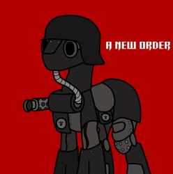 Size: 3000x3028   Tagged: safe, artist:iron gear, artist:nasse, pony, armor, gun, helmet, hose, ponified, return to castle wolfenstein, solo, stahlhelm, weapon, wolfenstein, wolfenstein the new order, über-soldat