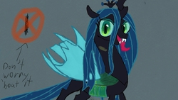 Size: 800x450 | Tagged: safe, artist:pwingbrony, queen chrysalis, art academy sketchpad, miiverse, solo, wii u