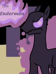 Size: 768x1024 | Tagged: artist needed, source needed, useless source url, safe, enderman, enderpony, pony, minecraft, ponified, solo