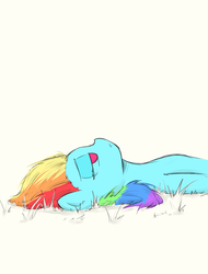 Size: 945x1244 | Tagged: safe, artist:poptart36, rainbow dash, pegasus, pony, bored, female, lying, mare, on back, solo