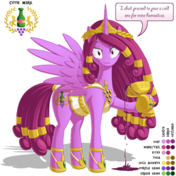 Size: 1100x1100 | Tagged: safe, artist:berrypawnch, berry punch, berryshine, alicorn, pony, alcohol, alicornified, bacchus, berrycorn, dionysus, goblet, goddess, libation, pouring, reference sheet, solo, sophisticated as hell, wine