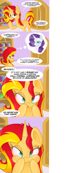 Size: 1152x2805 | Tagged: safe, artist:miroslav46, rarity, sunset shimmer, pony, puffy cheeks, sunset shimmer hates you, tumblr
