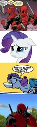 Size: 563x1936 | Tagged: comeback, comic, crying, deadpool, insult, insulting rarity, meme, mule, rarity, safe, spider-man