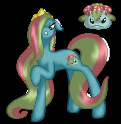 Size: 1323x1355 | Tagged: safe, artist:mondlichtkatze, earth pony, pony, venusaur, female, mare, pokémon, ponified, solo