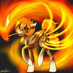 Size: 1000x1000 | Tagged: safe, artist:tardis-pony, oc, oc only, barer, clean, fire, ginger, redhead, snap