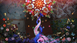 Size: 2560x1440 | Tagged: safe, artist:naboolars, princess celestia, princess luna, alicorn, elements of harmony, harmony ascendant, ponyphonic, song art