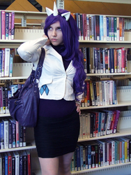 Size: 1000x1333 | Tagged: artist:couratiel, cosplay, human, irl, irl human, photo, rarity, safe