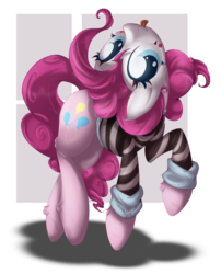 Size: 876x1083   Tagged: safe, artist:sip, pinkie pie, clothes, costume, face paint, female, mime, simple background, solo, tongue out, transparent background