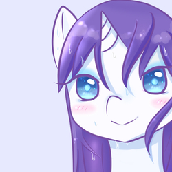 Size: 800x800 | Tagged: safe, artist:shouyu musume, rarity, bedroom eyes, female, looking at you, pixiv, solo, wet, wet mane, wet mane rarity