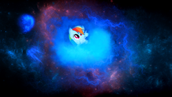 Size: 1920x1080 | Tagged: artist:calumoninc, artist:sgtwaflez, rainbow dash, safe, solo, space, wallpaper