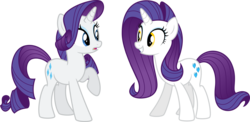 Size: 6000x2929 | Tagged: artist:claritea, artist interpretation, charity sweetmint, dyed mane, my little pony chapter books, rarity, rarity and the curious case of charity, safe, simple background, transparent background, vector