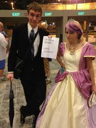 Size: 720x960   Tagged: artist needed, safe, princess cadance, human, bronycon, cease and desist, copyright, copyright silliness, cosplay, hasbro, humanized corporation, irl, irl human, parody, photo, trademark