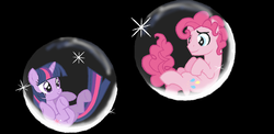 Size: 1072x522 | Tagged: safe, artist:dilemmas4u, pinkie pie, twilight sparkle, bubble, bubble berry, female, half r63 shipping, male, rule 63, shipping, show accurate, sparkleberry, straight, twinkie