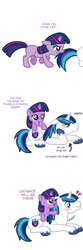 Size: 1000x3000 | Tagged: safe, artist:kuromi, shining armor, twilight sparkle, female, filly, male, stallion