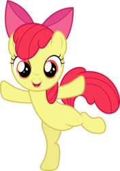 Size: 10000x14229 | Tagged: dead source, safe, artist:claritea, apple bloom, earth pony, pony, absurd resolution, adorabloom, belly, bipedal, bow, cute, female, looking at you, simple background, solo, standing, standing on one leg, transparent background, vector