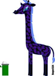 Size: 1102x1513   Tagged: safe, artist:roger334, nightmare moon, giraffe, drinking fountain, emily bronte, female, giraffied, parody, simple background, solo, species swap, transparent background