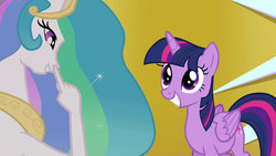 Size: 1280x720   Tagged: safe, artist:dtkraus, edit, screencap, princess celestia, twilight sparkle, alicorn, pony, female, goddammit kraus, grin, hand, mare, nose picking, smiling, squee, suddenly hands, twilight sparkle (alicorn), wat