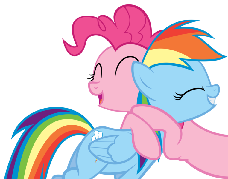 My little pony rainbow dash and pinkie pie kiss