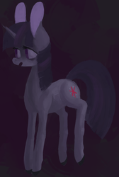 Size: 497x739 | Tagged: dead source, safe, artist:berrydrops, twilight sparkle, pony, unicorn, abstract background, female, mare, solo
