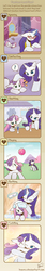 Size: 720x4255   Tagged: safe, artist:howxu, rarity, sweetie belle, pony, unicorn, ball, bath, bathing, bonding, cloud, comic, cute, diasweetes, eyes closed, female, filly, grass, hug, magic, mare, one eye closed, open mouth, playing, raribetes, sisters, sky, wet, wet mane, wet mane rarity