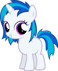 Size: 2495x3065 | Tagged: safe, artist:moongazeponies, dj pon-3, vinyl scratch, pony, unicorn, female, filly, filly vinyl scratch, foal, hooves, horn, simple background, smiling, solo, teeth, transparent background, vector