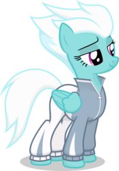 Size: 2105x3000   Tagged: safe, artist:stainless33, fleetfoot, pegasus, pony, clothes, female, looking down, mare, shading, shading edit, simple background, solo, transparent background, vector