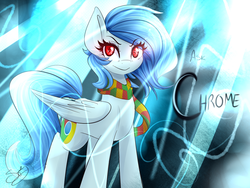 Size: 1280x960 | Tagged: artist:sugarberry, browser ponies, clothes, google chrome, oc, oc:google chrome, oc only, pegasus, ponified, pony, safe, scarf, solo
