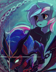 Size: 2550x3300   Tagged: safe, artist:paradoxbroken, lyra heartstrings, oc, oc:princess aria, fanfic:background pony, chains, clothes, fanfic art, hoodie, unsung realm
