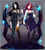 Size: 3456x3880 | Tagged: safe, artist:koveliana, oc, oc only, oc:maneia, oc:nocturna, human, black hair, chromatic aberration, clothes, dress, horn, humanized, megalomaneia, obsession is magic, purple hair, stockings