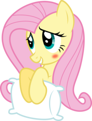 Size: 5985x7885   Tagged: safe, artist:schmuzart, fluttershy, .svg available, absurd resolution, blushing, cute, female, pillow, shyabetes, simple background, solo, transparent background, vector