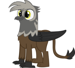 Size: 2215x2010 | Tagged: safe, artist:flicktransition, oc, oc only, oc:avery j harp, bird, griffon, simple background, smiling, solo, transparent background, vector