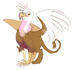 Size: 585x562 | Tagged: safe, artist:sinisterwhooves, gilda, griffon, solo