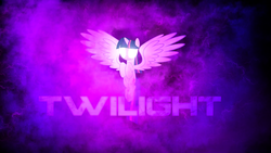 Size: 1920x1080 | Tagged: alicorn, artist:peachspices, artist:sgtwaflez, glowing eyes, pony, safe, solo, twilight sparkle, twilight sparkle (alicorn), wallpaper