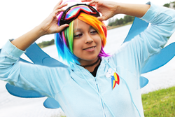Size: 4272x2848 | Tagged: safe, artist:awesome-vivi, rainbow dash, human, cosplay, irl, irl human, photo