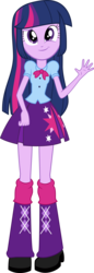 Size: 3776x10967 | Tagged: dead source, safe, artist:birdalliance, twilight sparkle, equestria girls, absurd resolution, female, looking at you, simple background, smirk, solo, transparent background, vector, waving