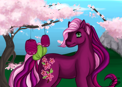Size: 1050x750 | Tagged: safe, artist:cyzzane, cherry blossom (g3), cherry blossoms, g3