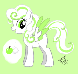 Size: 407x388 | Tagged: artist:kudalyn, ask, oc, oc:apple mallow, oc only, questionthekudas, safe, solo, tumblr